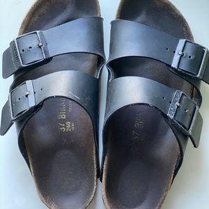 Birkenstocks Black Two strap